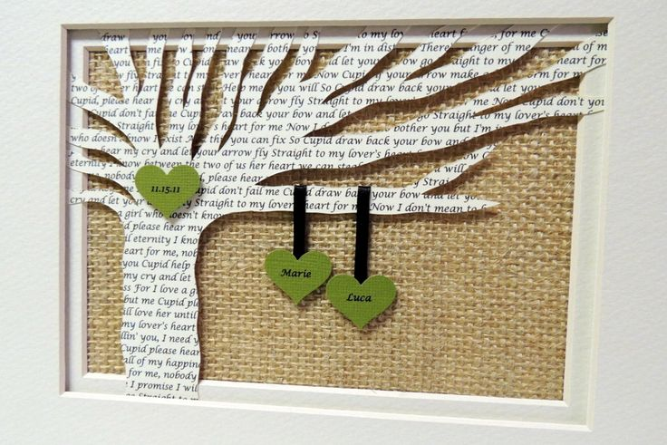 Personalized Wedding or Anniversary Gift - Wedding Song Lyrics 3D Paper Tree - Customized - 8x10 Frame Optional by HappyMomsCrafts on Etsy