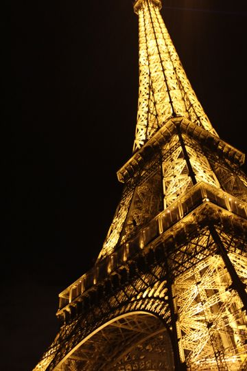 The Eiffel Tower in Paris, France. So breathtaking. I went 3 times. If you go in the evening, every half hour the tower is covered in a light show.