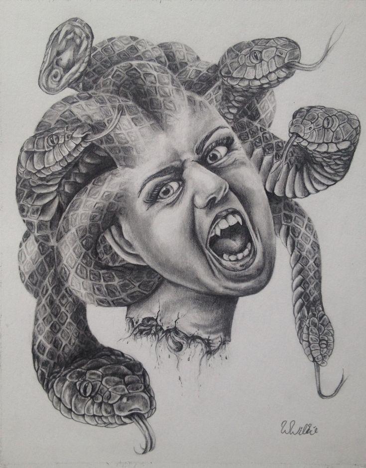"Original drawing by Whitney Wilkie ""Medusa"" prints 8x10 $20"