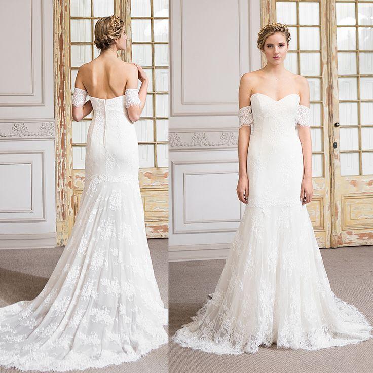 vestido de novia trompeta manga bajo el hombro · Trumpet Wedding Dress off Shoulder - www.santoencanto.cl/vestidos-de-novia/