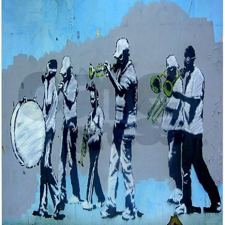 Banksy Jazz Street Band Shower Curtain On Cafepress Com Banksy