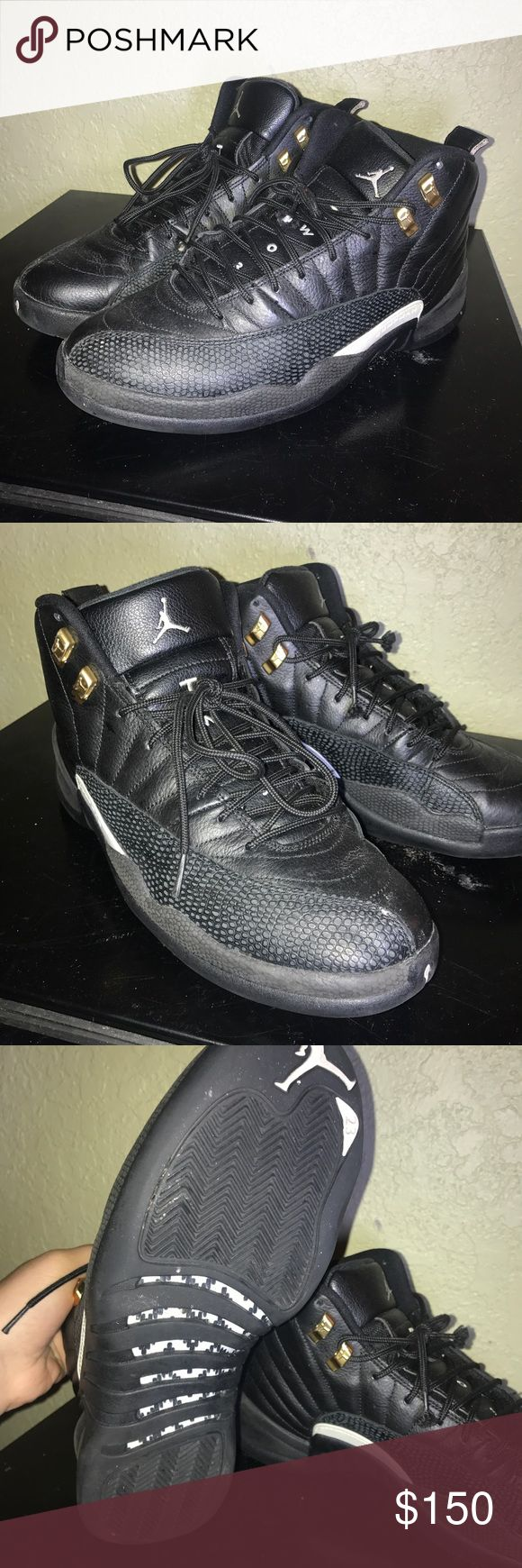 Retro jordan master 12s These are one of my favorite shoes of all time! Super clean! Need new laces minimal cleaning and damage! Jordan Shoes Sneakers