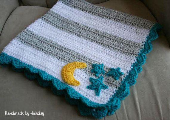 Twinkle Twinkle Little Star Blanket Crochet by HandmadeByHoladay