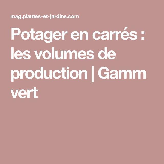 Potager en carrés : les volumes de production   Gamm vert