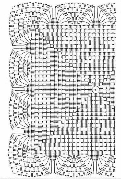 Вязание квадратная скатерть