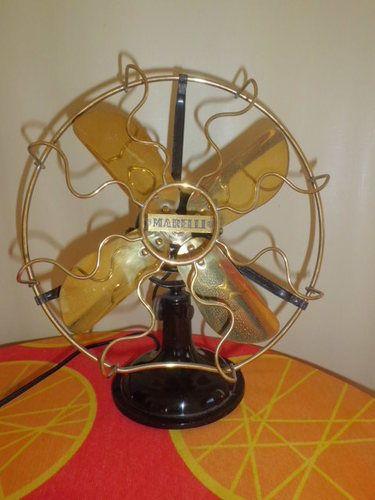 Antique Vintage Italian Marelli Electric Fan Restored | eBay