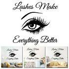 Lashes Eye Quote Removable Wandaufkleber Kunst Aufkleber Wandhaupt Schlafzimmer Dekoration