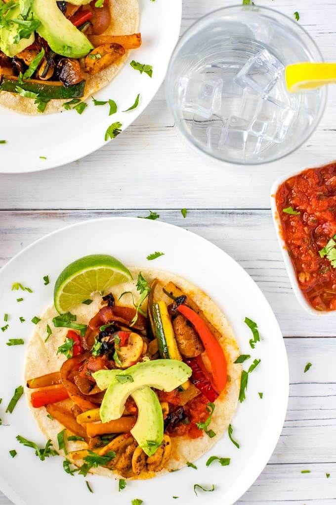 Crazy Good Vegetarian Fajitas Wendy Polisi Recipe Vegetarian Fajitas Tasty Vegetarian Recipes Vegetarian Recipes Easy