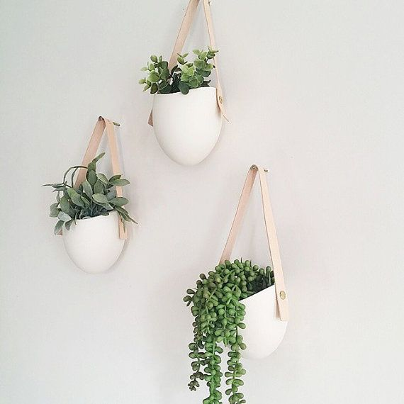 Add some vertical greenery to any wall in your home. The hanging ceramic planter…