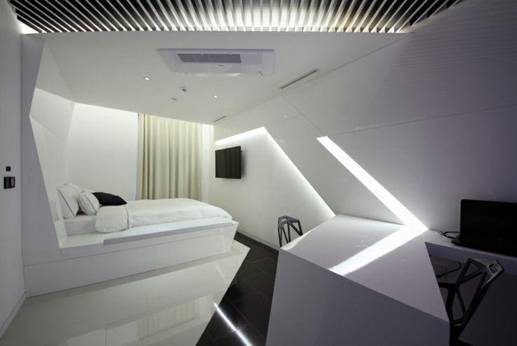 les 25 meilleures id es de la cat gorie int rieur futuriste sur pinterest maison futuriste. Black Bedroom Furniture Sets. Home Design Ideas