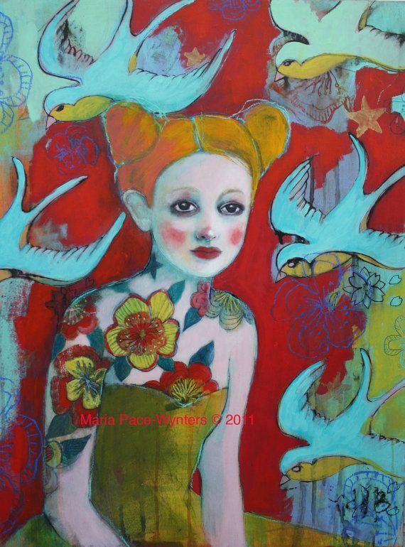 Perdu dans vos rêves--beaux-arts Reproduction sur bois par Maria Pace-Wynters