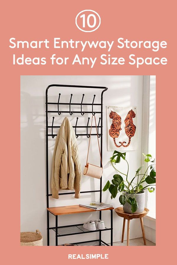 10 Smart Entryway Storage Ideas For Any Size Space In 2020 Entryway Storage Sleek Storage Minimalist Entryway