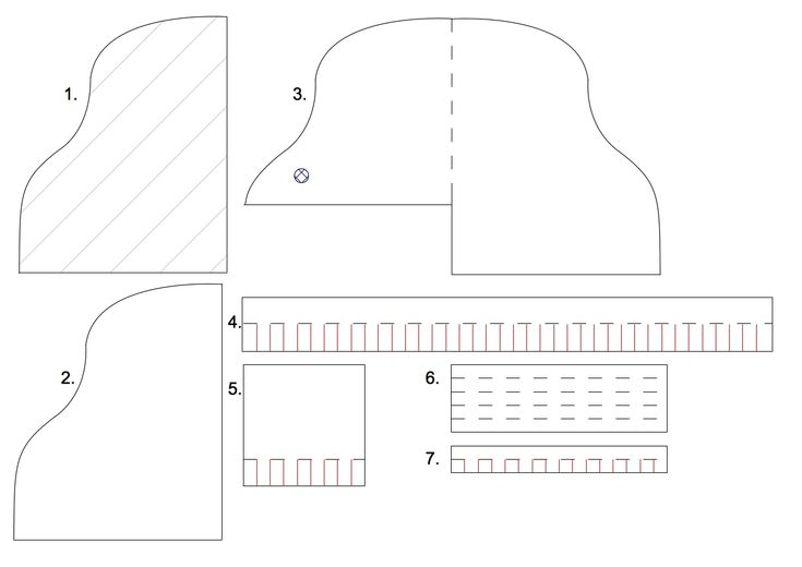Template for a piano card