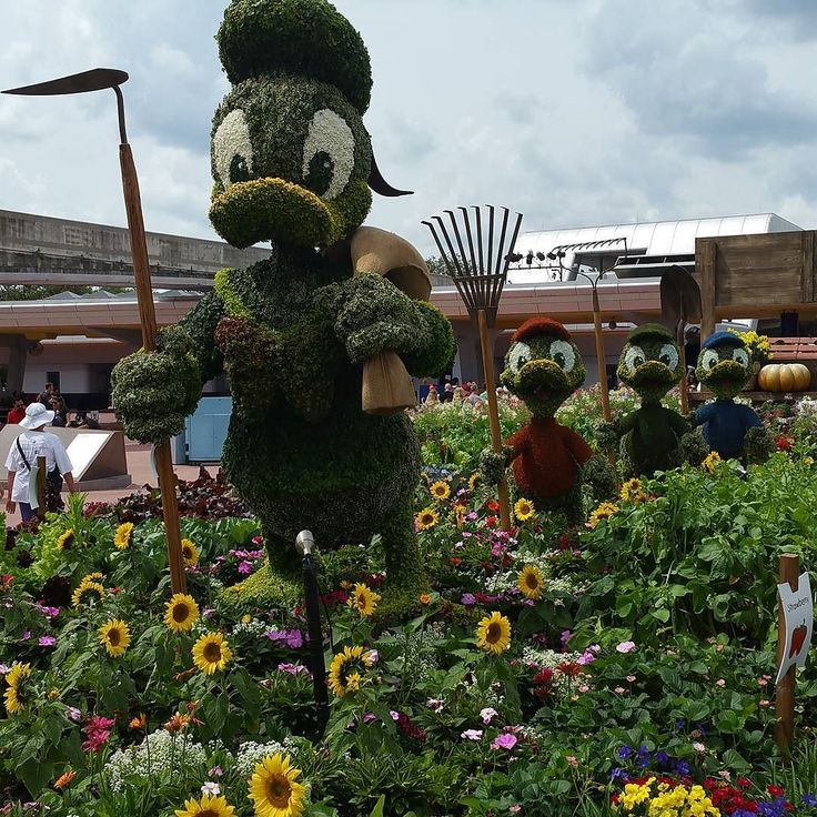 Epcot Flower and Garden Fest grows each year. The addition of more food booths make it feel like a mini food and wine fest.  #travel #Disneytip #Epcot #DisneyWorld #Disneytips #familyvacation