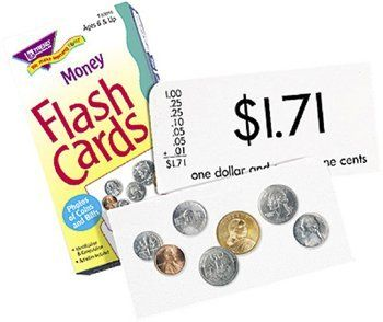 FLASH CARDS MONEY 96/BOX by MotivationUSA. $6.99. Manufactured by .: Trend Enterprises Inc.. Sold As 1 Each. SKU.: T-53016. * Perfect for building basic skills and reinforcing learning. Photos of coins and bills build identification and computation skills and make learning fun. Wonderful reinforcement activities for home, school, and travel.. Save 59%!