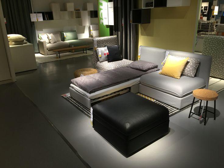 small sofa sleeper folding bed mattress india vallentuna, modulsofa med sovefunksjon | inspirasjon fra ...