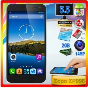 Zopo ZP998  Si te gustan los terminales grandes y potentes...este puede ser una muy buena opción