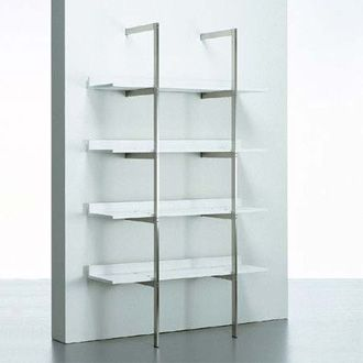 Bookshelf, steel and white