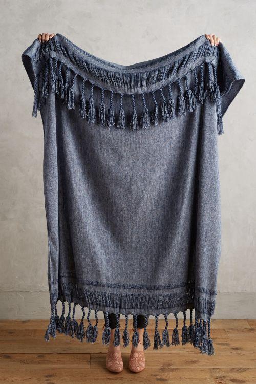 Roped Fringe Throw Blanket - boho bohemian home decor