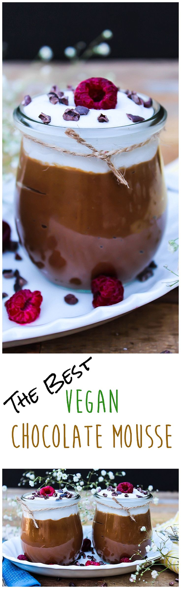 This creamy & dreamy mousse is gluten-free, vegan and is so delicious! Just natural & healthy ingredients. #veganmousse #veganglutenfree #vegandessert Chocolate Avocado Mousse - http://veganhuggs.com/chocolate-avocado-mousse/