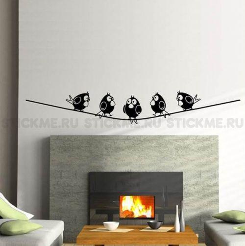 Трафареты для стен, купить трафарет на стену для декора и росписи и для оформления помещений - Птички Пиксар