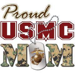 mom of a marine t shirt | proud usmc mom underwear