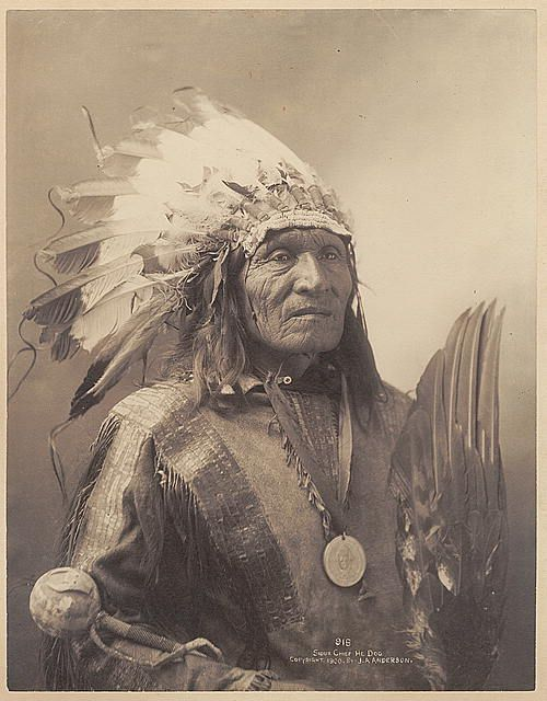 Sioux Chief Indian,  He Dog, c1900