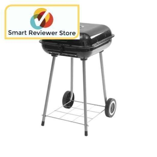"Backyard Grill Charcoal 17.5"" Square Portable Outdoor BBQ GRILL With Wheels Backyard Grill 17.5-Inch Square Charcoal Grill Patio Garden Grills Outdoor Cooking Charcoal GrillsBackyard Grill 17.5-Inch Square Charcoal Grill:302 sq in cooking surface16-burger cooking capacityBottom storage shelfDimensions: 17.9""L x 19.3""W x 29.33""H. 
