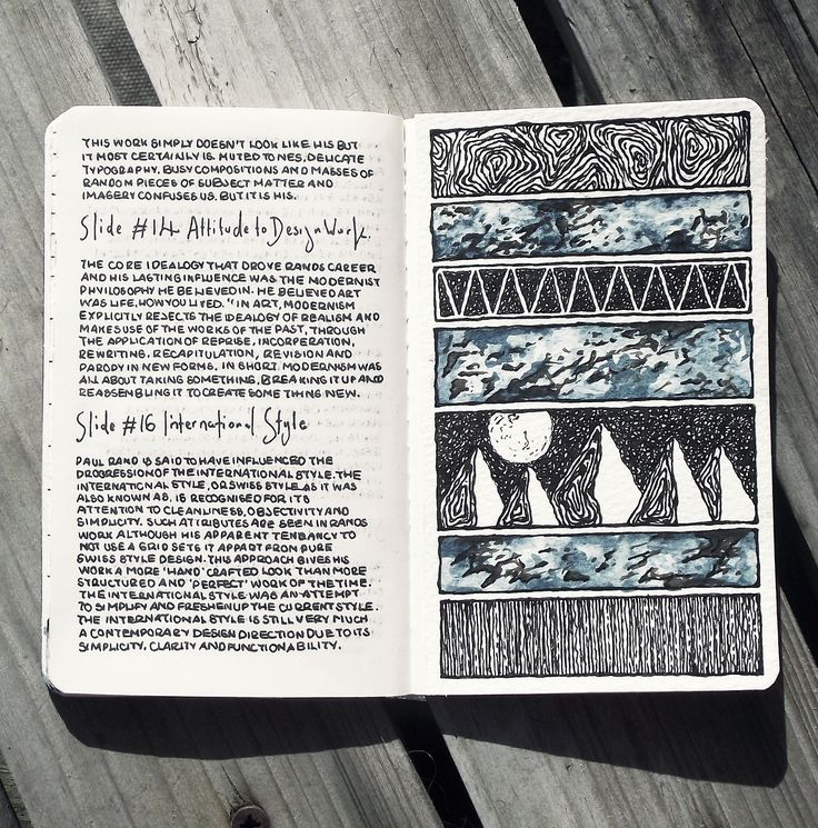 love the page of journaling partnered with a page of sketching