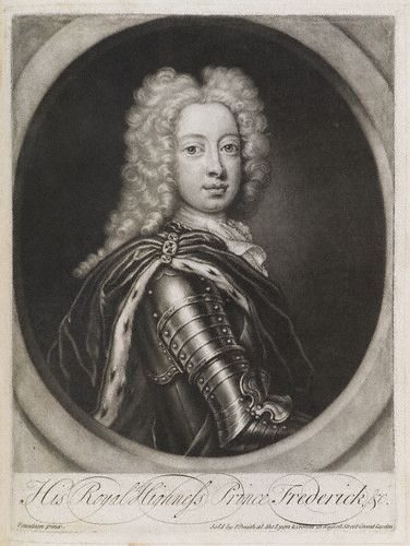 A young portrait of Frederick, Prince of Wales, ca. 1724. He was the son of George II and the father of George III.
