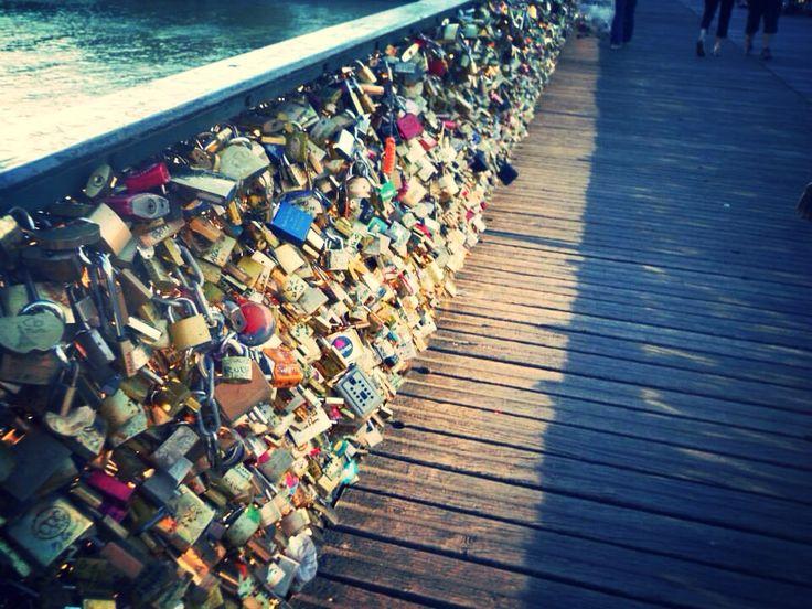 Lock bridge, Paris, France