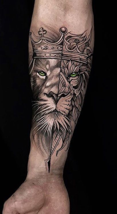 Popular Lion Tattoo Ideas for Men and Women ❤ #liontattoo #lion #tattooanimals – #Ideas #lion