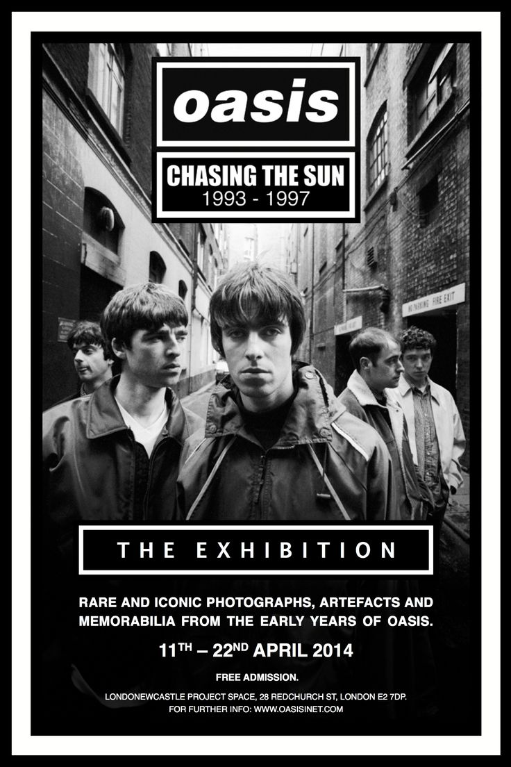 Oasis - Chasing the Sun The Exhibition