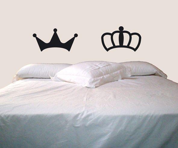 Decoración para bodas - Corona rey y reina sticker 078DB - hecho a mano por lagoa-small-spaces en DaWanda