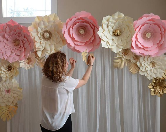 Paper flower template diy paper flower diy backdrop paper flower paper flower backdrop paper flower template diy paper flower large paper flower template mightylinksfo
