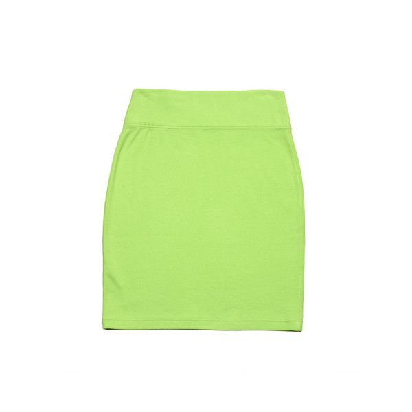 American Eagle Outfitters Skirts Lime Green Knit Pencil Skirt -... ❤ liked on Polyvore featuring skirts, bottoms, green skirt, lime pencil skirt, lime skirt, green pencil skirt and lime green skirts