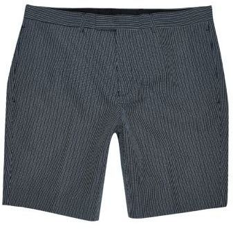 River Island Mens Navy seersucker skinny fit smart shorts