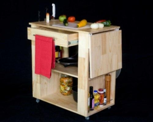 Mesas auxiliares con ruedas la cocina kitchen - Mesas auxiliares cocina ...