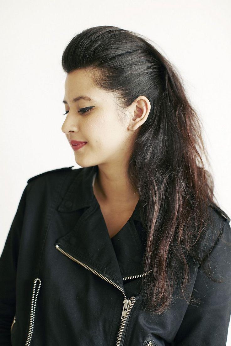 pompadour frisur damen lange haare pony stylen #haare #frisuren #hairstyle