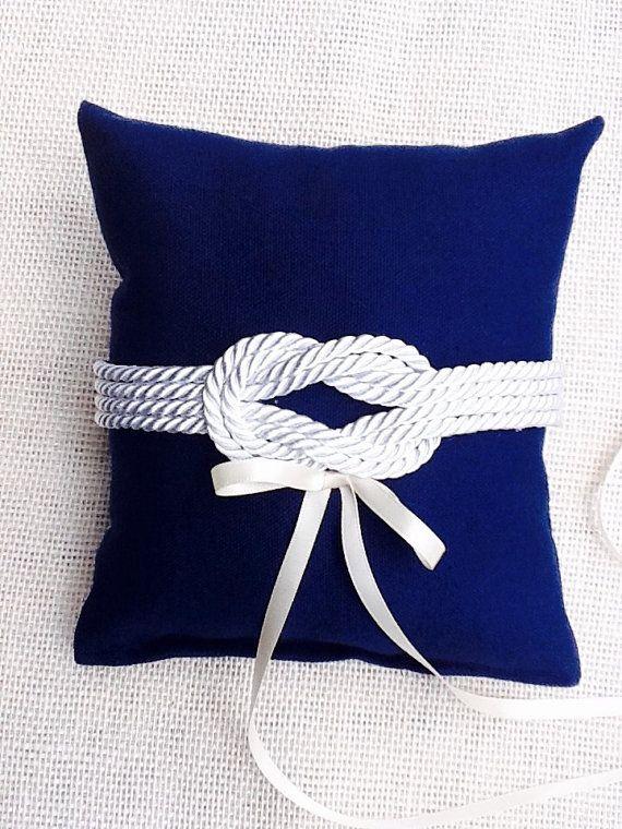 Nautical knot  Ring Bearer Pillow/Navy sailors by NauticalWeddings $32.
