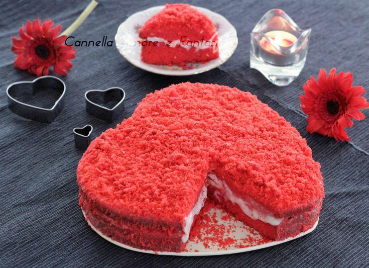 La red velvet cake ovvero la torta dal velluto rosso è una torta tipica americana molto soffice e cioccolattosa perfetta a forma di cuore per san valentino!
