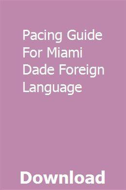Pacing Information For Miami Dade International Language pdf obtain