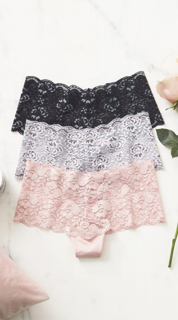 La Vie en Rose   Lace Cheeky Panty