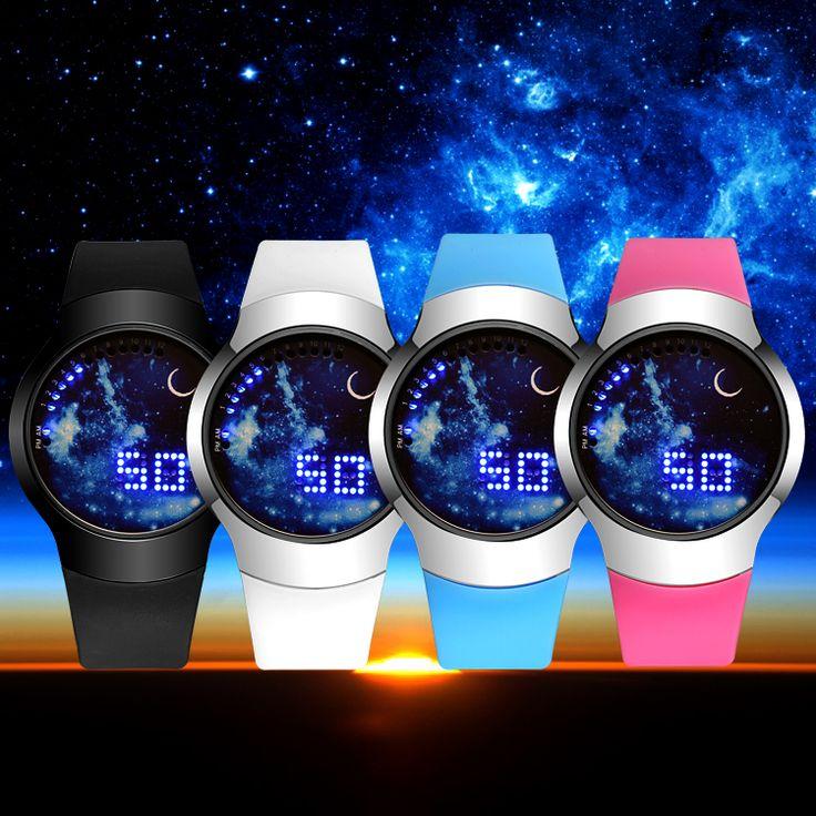 $9.41 (Buy here: https://alitems.com/g/1e8d114494ebda23ff8b16525dc3e8/?i=5&ulp=https%3A%2F%2Fwww.aliexpress.com%2Fitem%2F2016-New-Fashion-Starry-Sky-Touch-Screen-Watch-Men-Women-LED-Watches-Casual-Leather-man-Sports%2F32760886040.html ) 2016 New Fashion S