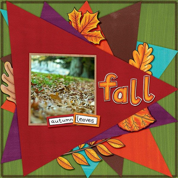 """Fall digital scrapbooking layout created with """"Fantabulous Fall"""" kit by Kate Hadfield & Kim Jensen. Ideas for autumn scrapbook pages! Layout by Creative Team member Edeena"""