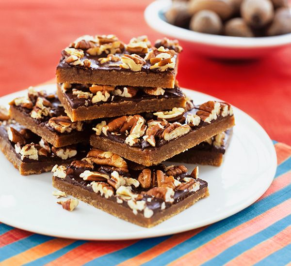 Mocha-toffee pecan bars: Pull out all the stops for morning coffee with friends – these sweet slabs are the perfect partner for your daily caffeine boost.