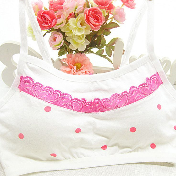 High Quality No Rims Comfortable Bras Dot Lace Vest Bra Girls Cotton Underwear Soft Training Bras Child Clothing Free Shipping #>=#>=#>=#>=#> Click on the pin to check out discount price, color, size, shipping, etc. Save and like it!