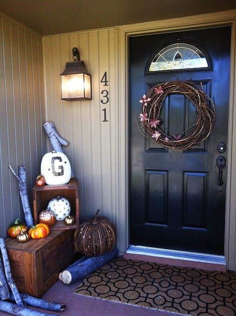 NIce.: Holiday, Fall Front Porches, Fall Front Doors, Fall Ideas, Decorating Ideas, Fall Decorating, Porch Decorating, Fall Porches, Porch Ideas