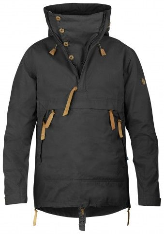 Something like this without all the zipper pulls - Fjall Raven Anorak No. 8