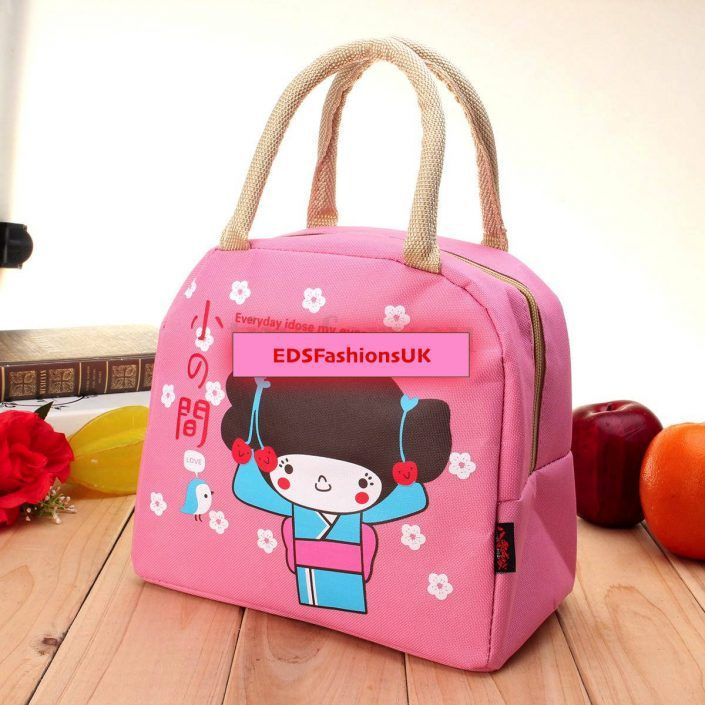 PINK! Portable Thermal Lunch Bag Insulated Cooler Box Handbag Food Storage Pouch Tote – FREE POSTAGE!!!